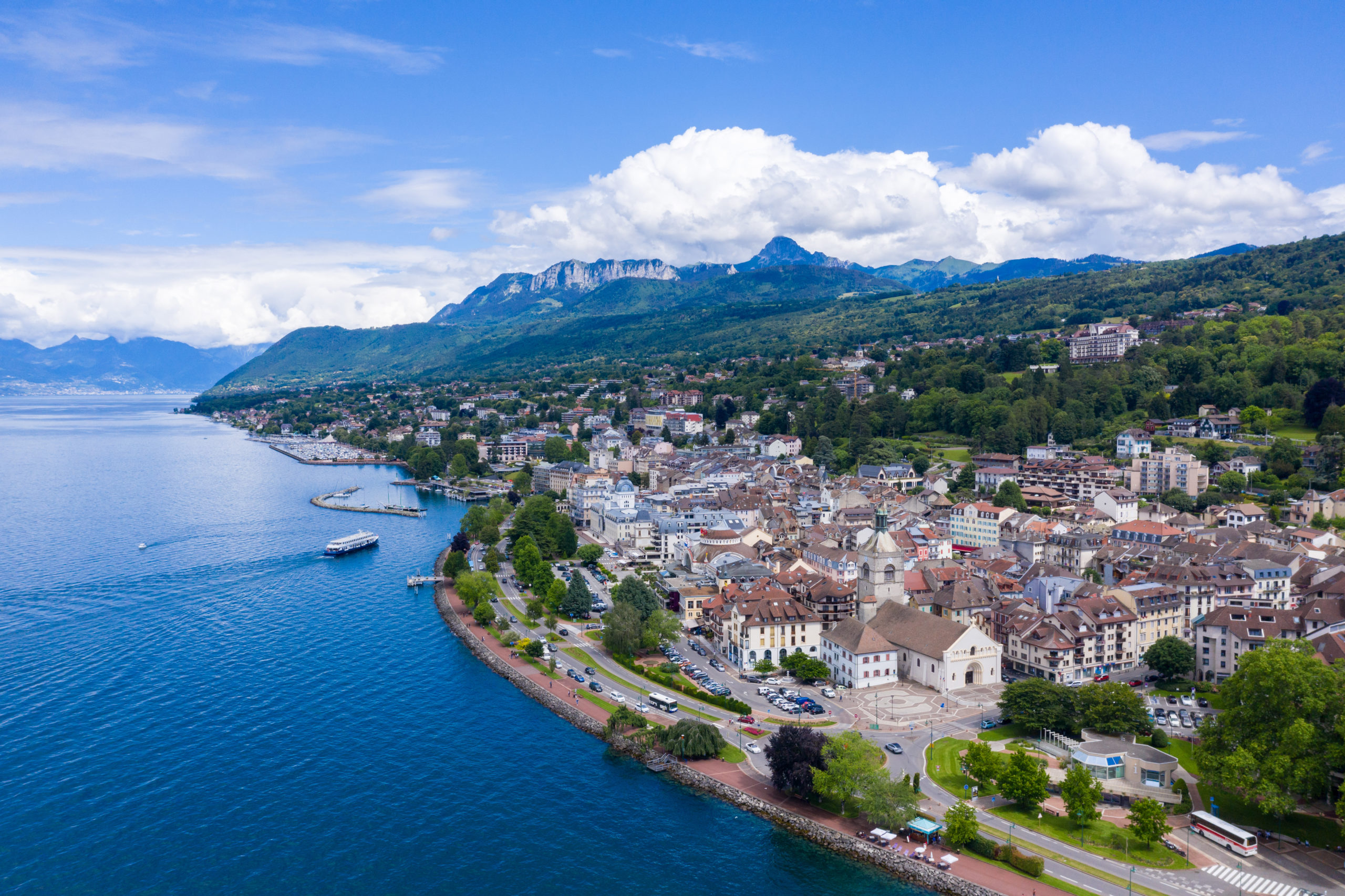 Evian-les-Bains Vue aérienne